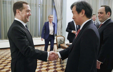 Prime Minister of the Russian Federation Dmitry Medvedev receives BIE Enquiry Mission in Moscow