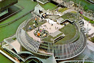 France's pavilion at Expo 1967 Montreal from above