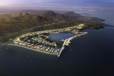 The site from the sky Expo Izmir 2020