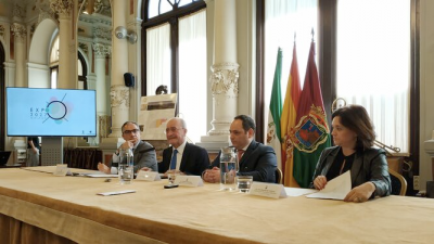 Dimitri S. Kerkentzes, Secretary General of the BIE (second from left) in Malaga