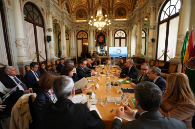 The BIE Secretary General's visit to Malaga included meetings with local and regional authorities