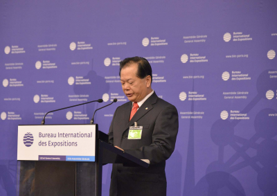 Wang Jinzhen, the Commissioner General of Expo 2019