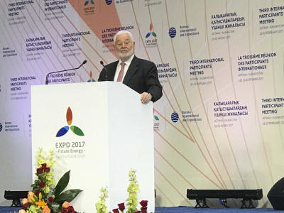 The Secretary General of the Bureau International des Expositions (BIE), Vicente G. Loscertales