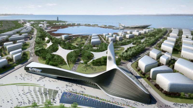 A view of the site project, Expo 2020 Izmir