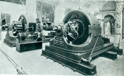 A 500hp generator using Tesla's Alternating Current system