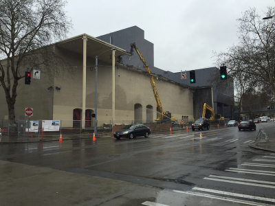 Demolition of the Seattle Ice Arena