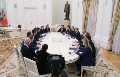 President of the Russian Federation Vladimir Putin receives BIE Enquiry Mission in Moscow. Credit: The Kremlin
