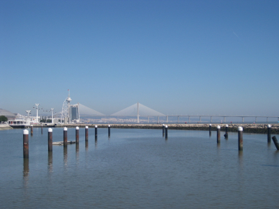 Expo 1998 area view on Vasco da Gama bridge
