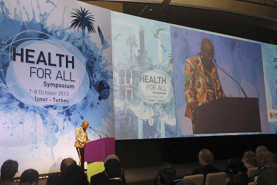 Angelique Kidjo at Health for all symposium Expo 2020 Izmir