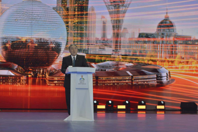 President Nazerbayev addresses the Closing Ceremony of Expo 2017 Astana