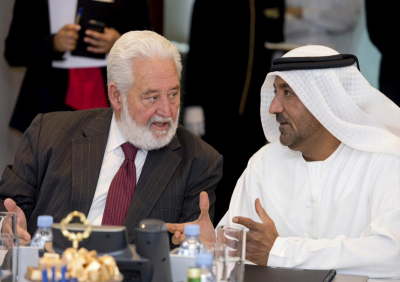 Vicente Loscertales et Sheikh Ahmed bin Saeed Al Maktoum - Source Expo 2020 DUbai