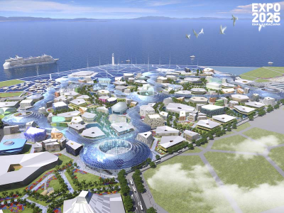 Rendering of the Expo 2025 Osaka Kansai site. Credit: METI