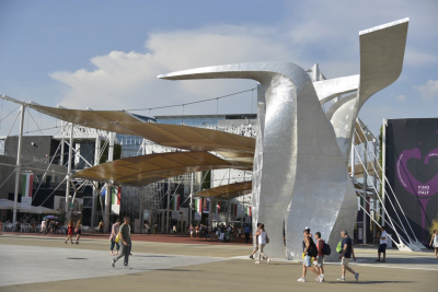 One of the Expo 'wings', also designed by Libeskind