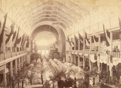 Exhibition area in the venue of Expo 1880 Melbourne