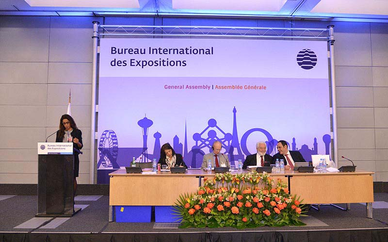 The Expo 2016 Antalya delegation before the 159th General Assembly of the BIE
