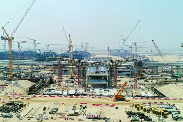 Construction on the site of Expo 2020 Dubai