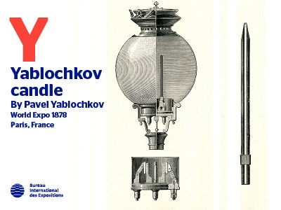 A to Z of Innovation at Expos: Yablochkov candle