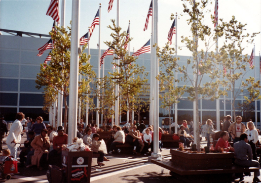 Flying visitors to the moon: the US pavilion at Expo 1984